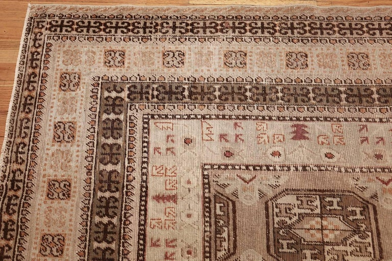 Antique Long and Narrow Oriental Khotan Rug In Good Condition For Sale In New York, NY