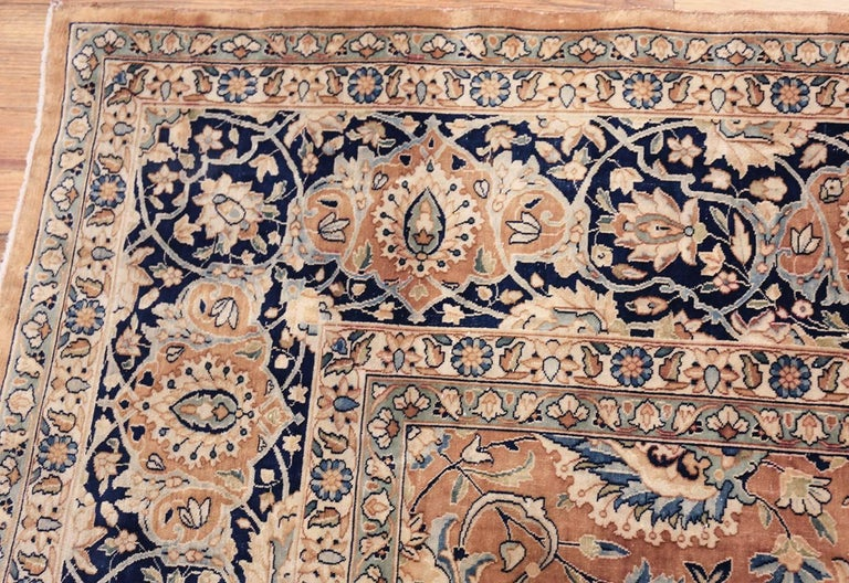 Hand-Knotted Antique Persian Kerman Carpet  For Sale