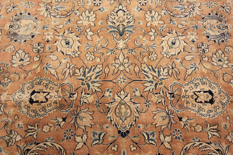 Wool Antique Persian Kerman Carpet  For Sale