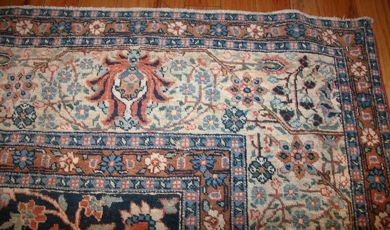 20th Century Beautiful Shabby Chic Antique Persian Tabriz Rug For Sale