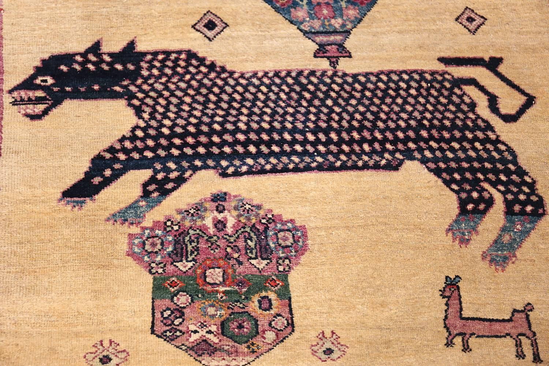Large Animal Motif Antique Farahan Persian Rug For Sale at 1stdibs