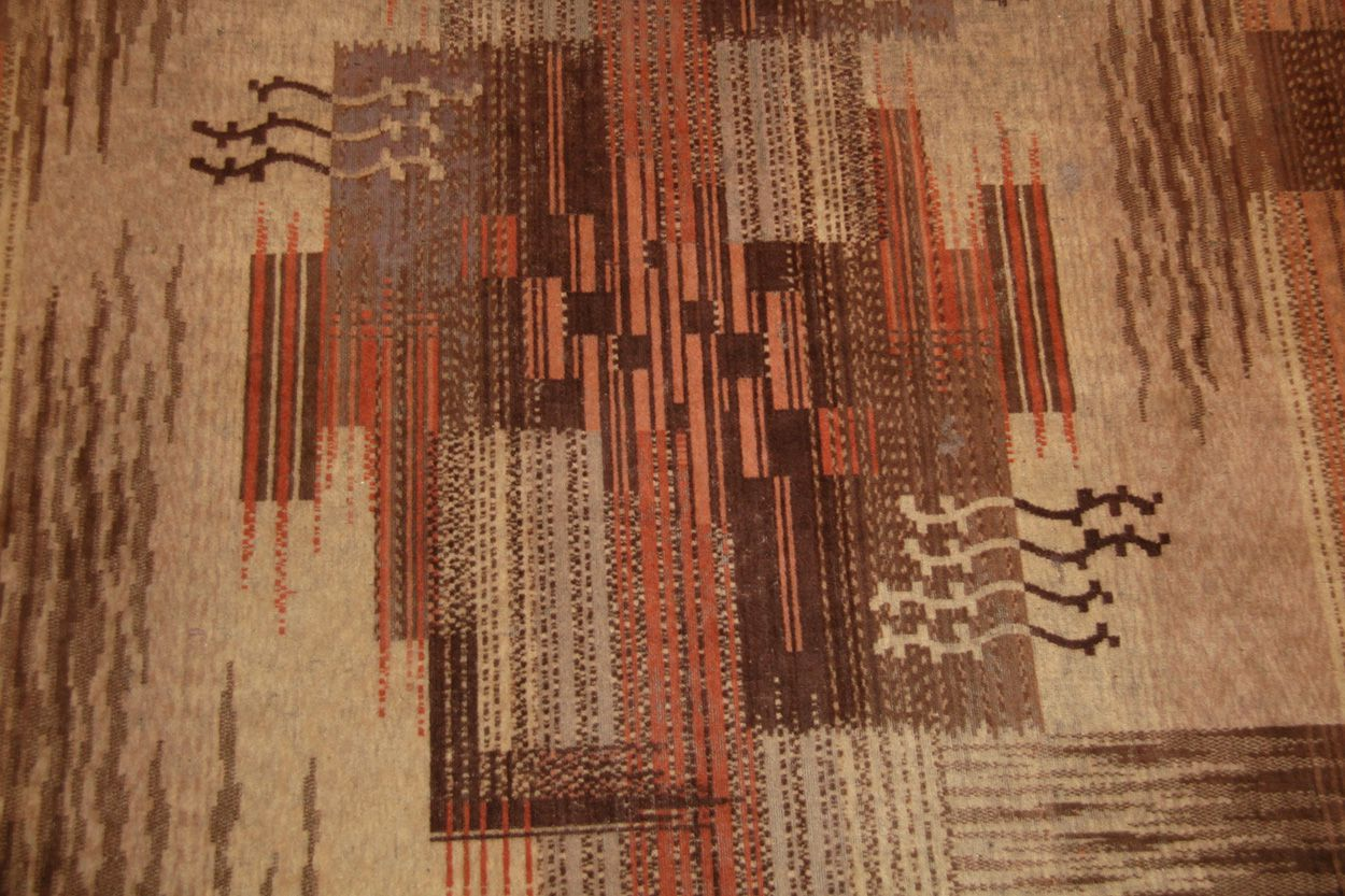 Vintage French Art Deco Carpet For Sale at 1stdibs
