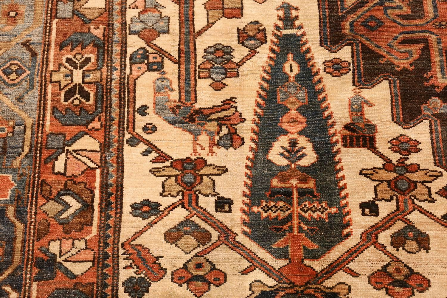Large Tribal Geometric Antique Bakhtiari Persian Carpet For At 1stdibs