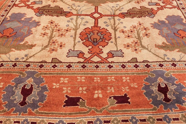 Arts and Crafts Large Gavin Morton Arts & Crafts Design Irish Donegal Rug For Sale