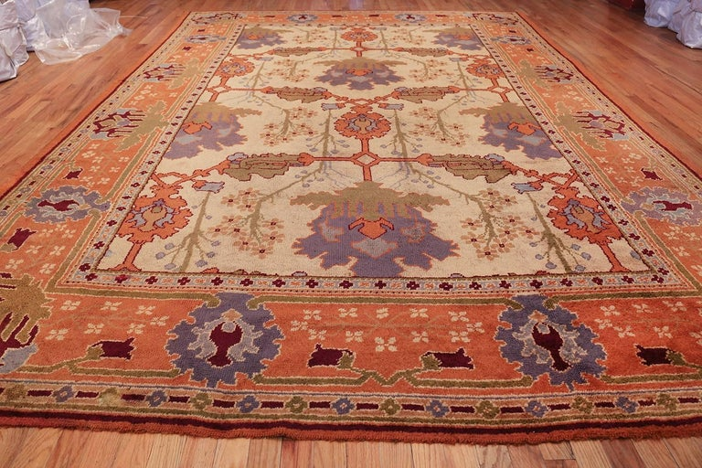 Large Gavin Morton Arts & Crafts Design Irish Donegal Rug For Sale 1