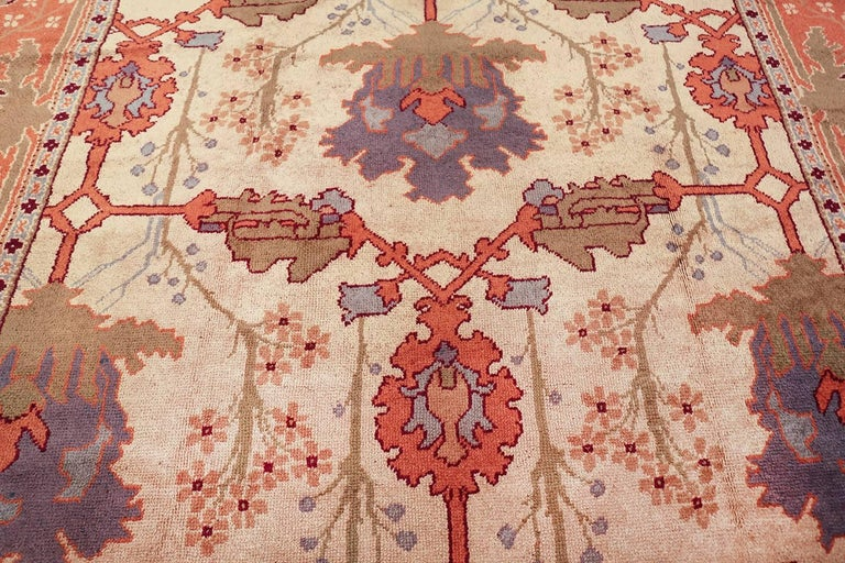 Large Gavin Morton Arts & Crafts Design Irish Donegal Rug For Sale 2