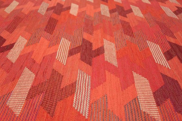 Mid-Century Modern Vintage Geometric Marta Maas Scandinavian Rug by Barbro Nilsson For Sale
