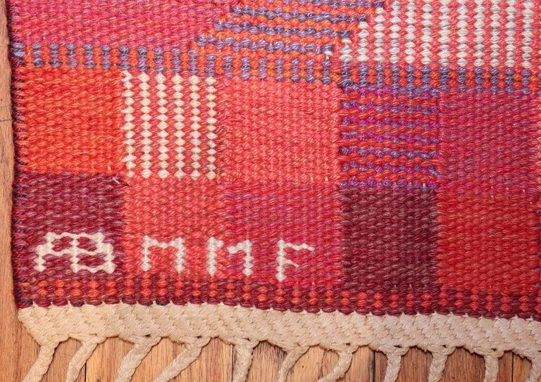 Vintage Geometric Marta Maas Scandinavian Rug by Barbro Nilsson For Sale 1