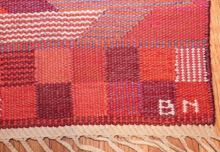 Vintage Geometric Marta Maas Scandinavian Rug by Barbro Nilsson For Sale 2