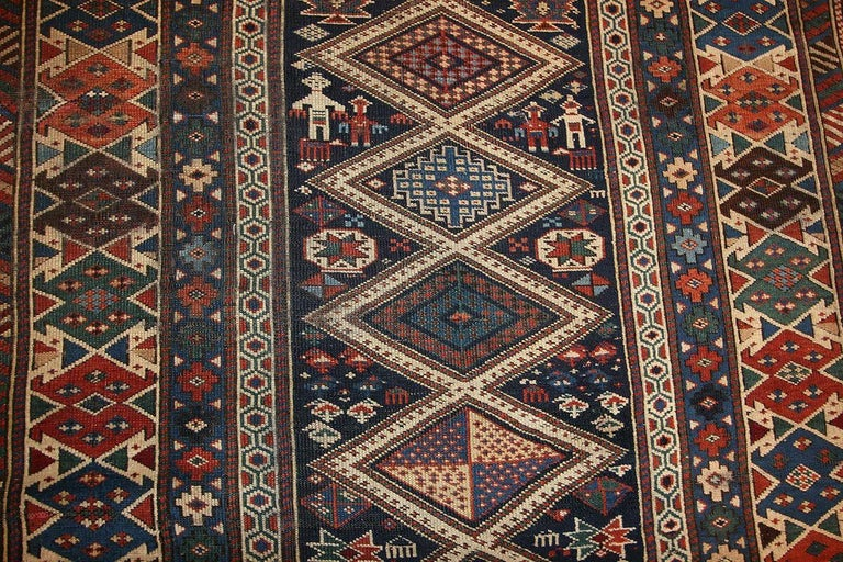 Tribal Antique Caucasian Shirvan Rug For Sale