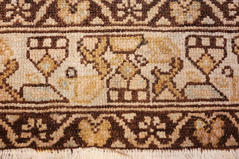 Hand-Knotted Antique Tribal Malayer Persian Rug For Sale
