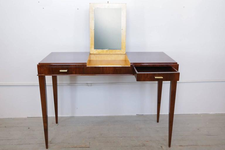 Art Deco Vanity Table With Flip Up Mirror At 1stdibs