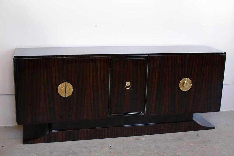 French Art Deco Macassar Ebony Sideboard circa 1930s 3