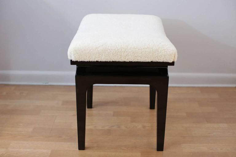 Pair of Mid-Century Modern Asiatic Benches or Poufs circa 1950s 4