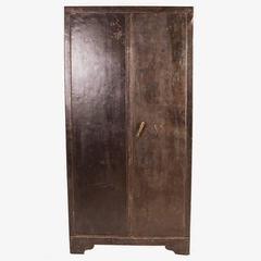Vintage Two-Door Iron Storage Locker, circa 1920