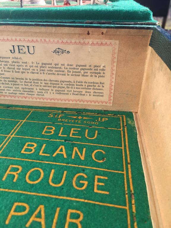 vintage jeu de course equestrian game france circa 1890 for sale at 1stdibs. Black Bedroom Furniture Sets. Home Design Ideas