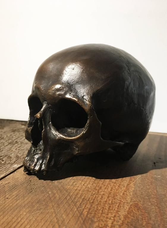 Cast Bronze Skull In Excellent Condition For Sale In Yountville, CA