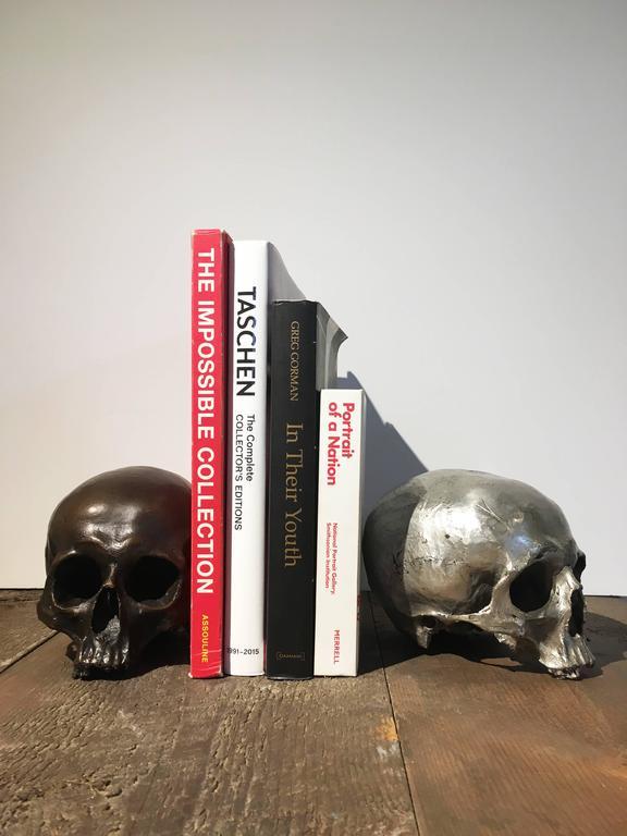American Cast Bronze Skull For Sale