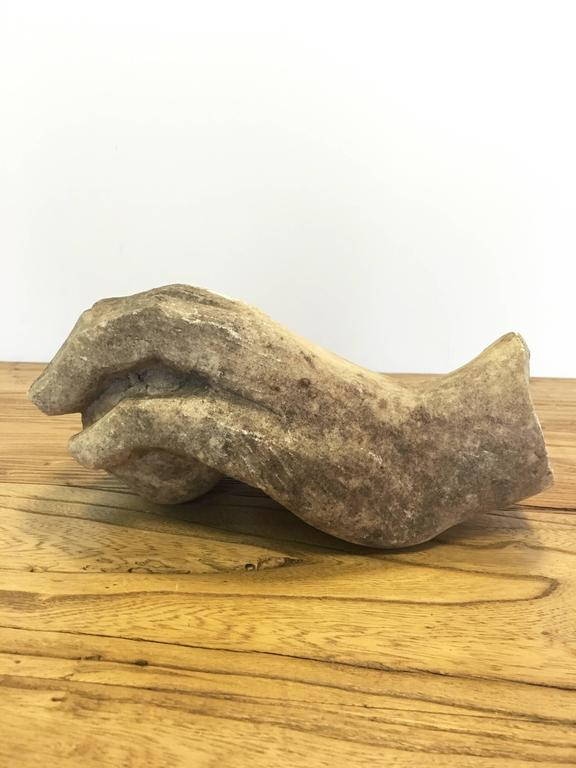 19th Century Vintage Marble Hand Fragment For Sale