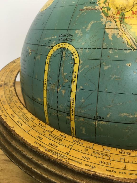 20th Century Cram's Terrestrial Globe For Sale