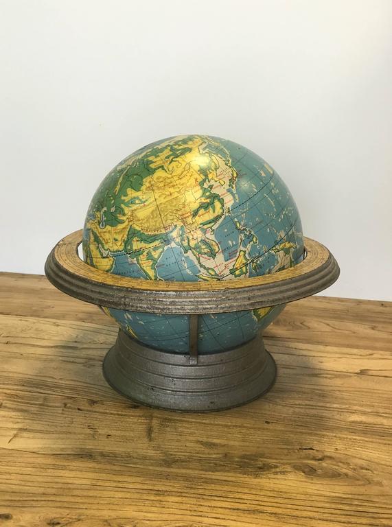 Cram's 12 inch terrestrial globe.