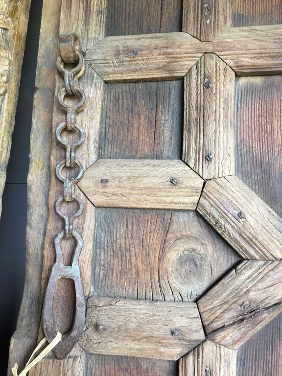 Vintage Carved Wooden Door Panels For Sale 2