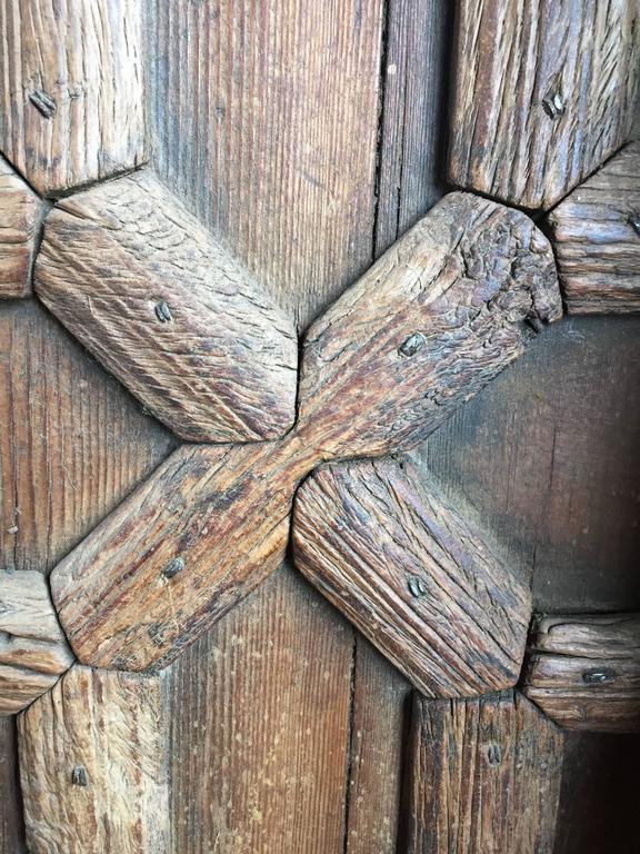 Vintage Carved Wooden Door Panels For Sale 4