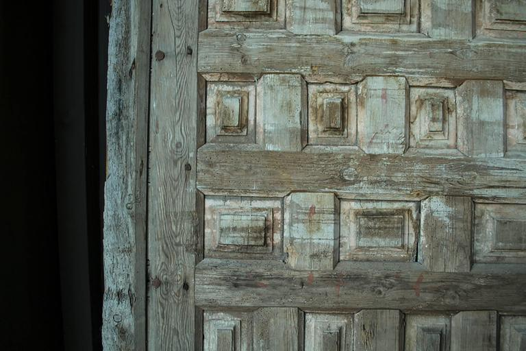 Vintage Monumental Wooden Doors For Sale 1