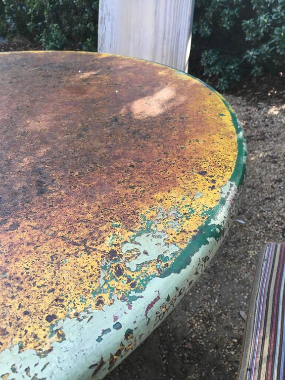 1940s Vintage American Green Garden Table In Good Condition For Sale In Napa, CA