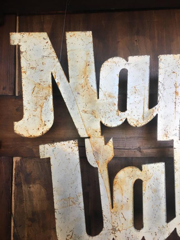 Vintage Napa Valley Sign, circa 20th Century In Good Condition For Sale In Napa, CA