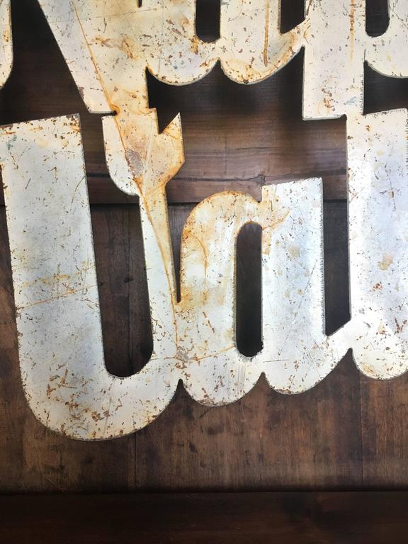 Metal Vintage Napa Valley Sign, circa 20th Century For Sale