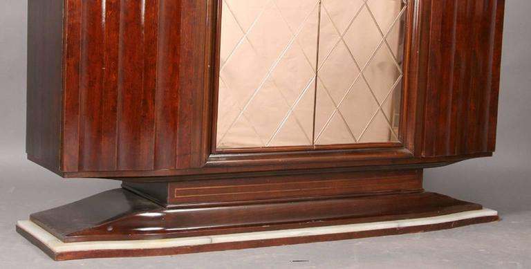 Art Deco Cabinet with Peach Color Etched Doors In Good Condition For Sale In New York, NY