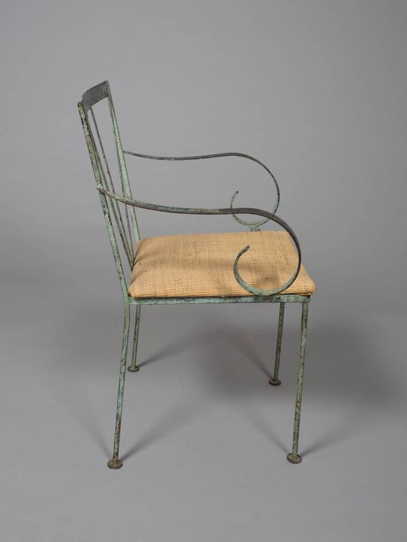 Mid-Century Modern Set of Four Mid-Century Garden Chairs For Sale