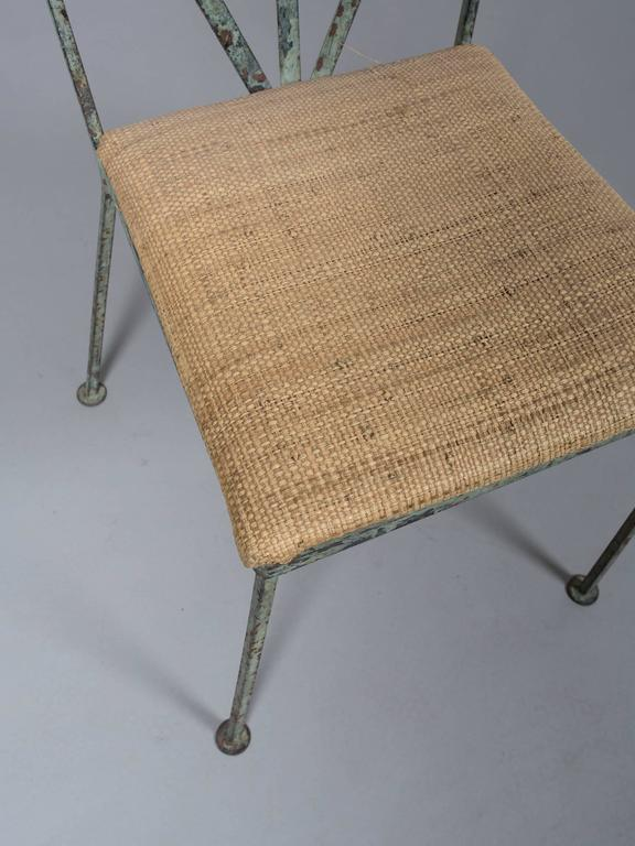 Steel Set of Four Mid-Century Garden Chairs For Sale