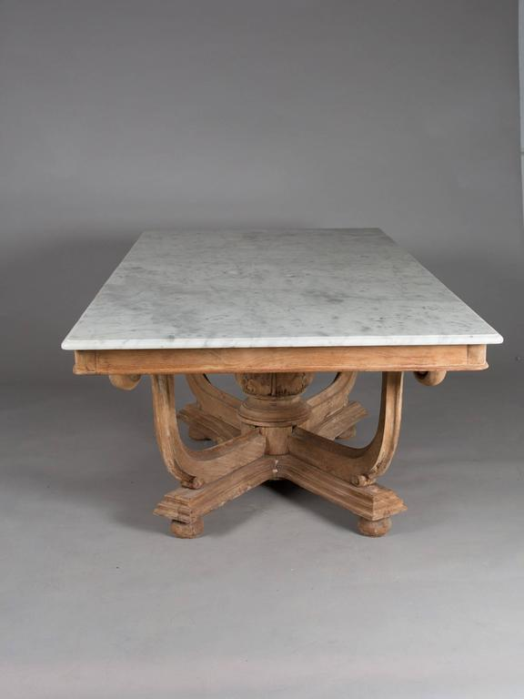 1930s English Marble-Top Dining Table 3