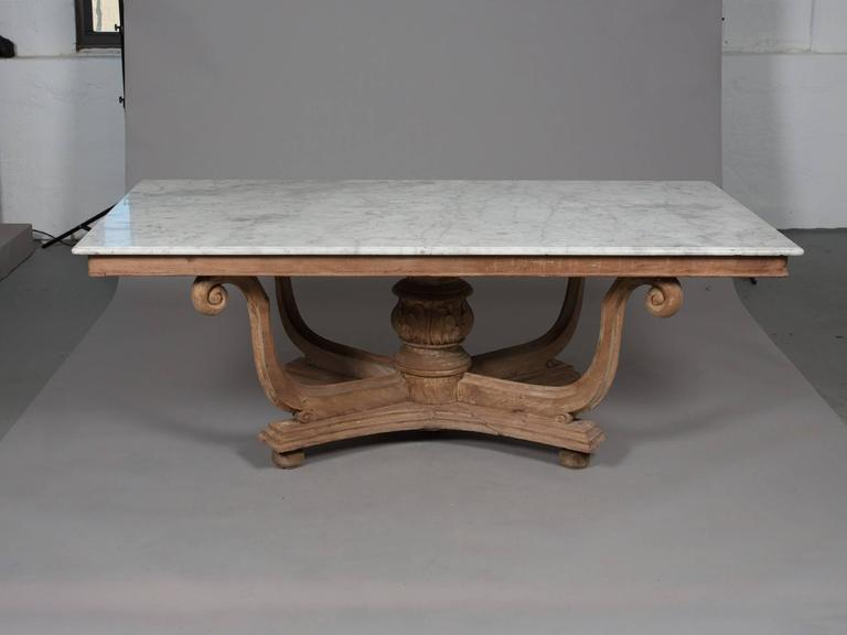 1930s English Marble-Top Dining Table 2