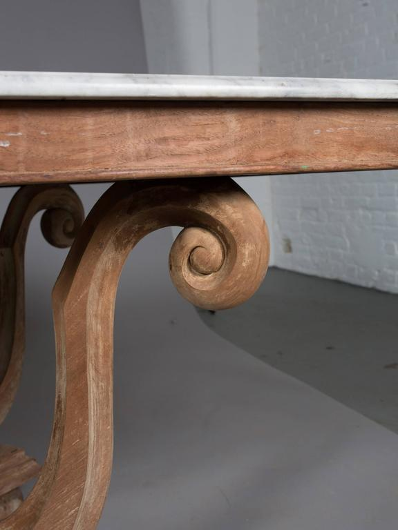 1930s English Marble-Top Dining Table 4