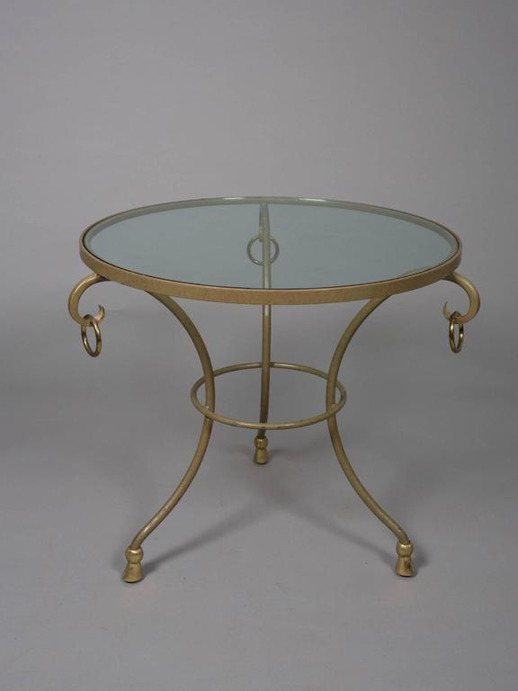 Pair of Round Regency Style Side Tables 2