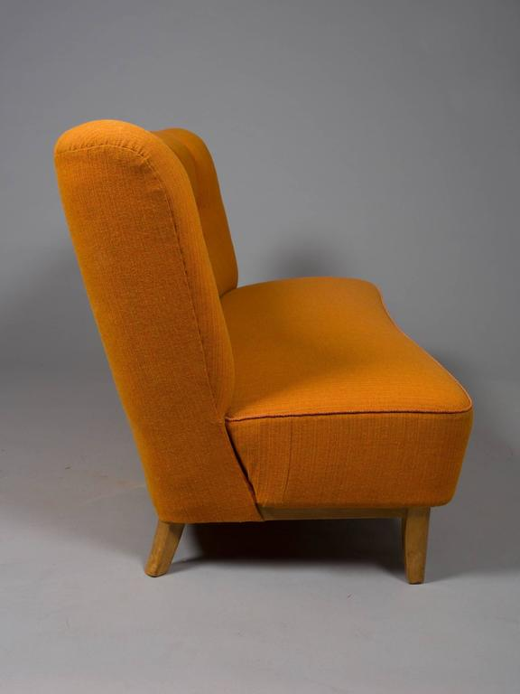 Mid-Century Modern Danish Armless Settee For Sale