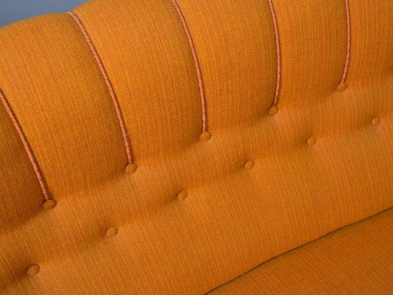Danish Armless Settee For Sale 4