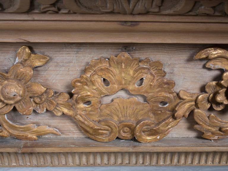 Georgian Style Carved Pined Parcel Gilt Fire Surround For Sale 2