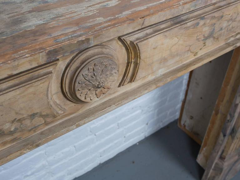 French Faux Marble Mantel 2