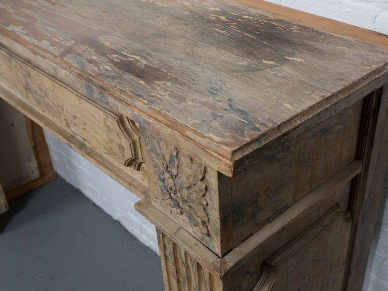 French Faux Marble Mantel 5