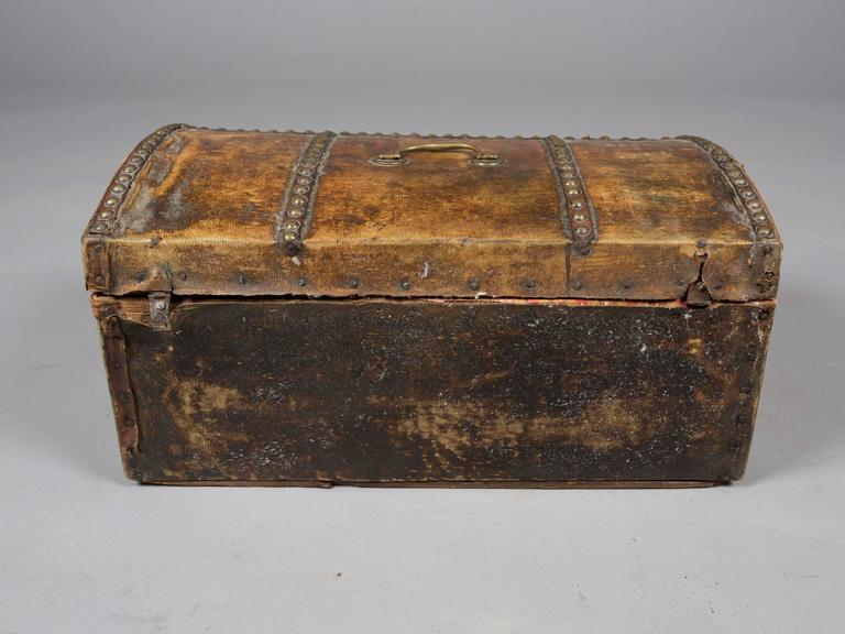 Collection of 19th Century Hide and Leather Trunks 6
