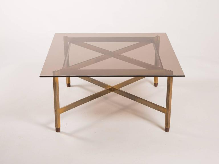 Mid-Century Modern Brass Coffee Table 2