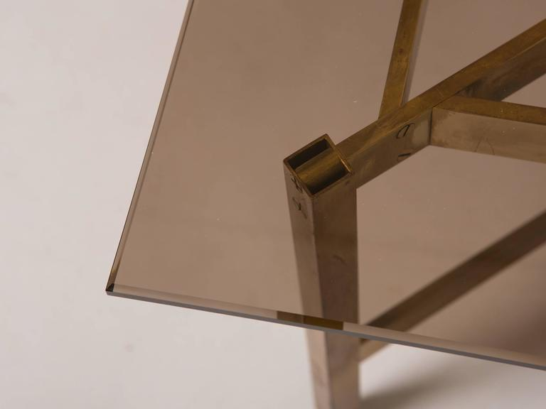Mid-Century Modern Brass Coffee Table 6