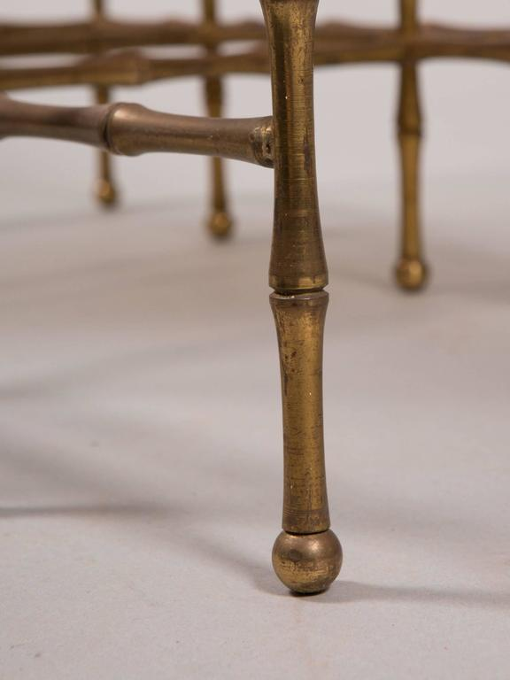 French Faux Bamboo Nesting Tables 3