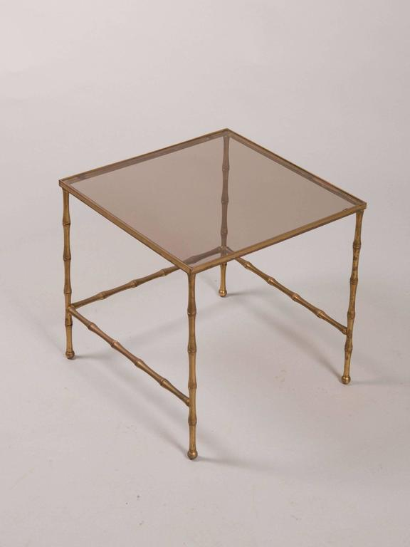 French Faux Bamboo Nesting Tables 2