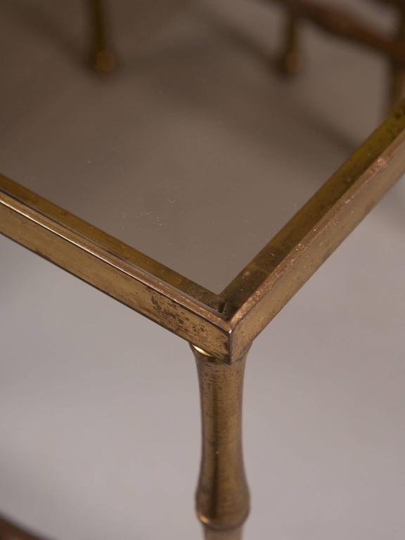 French Faux Bamboo Nesting Tables 5