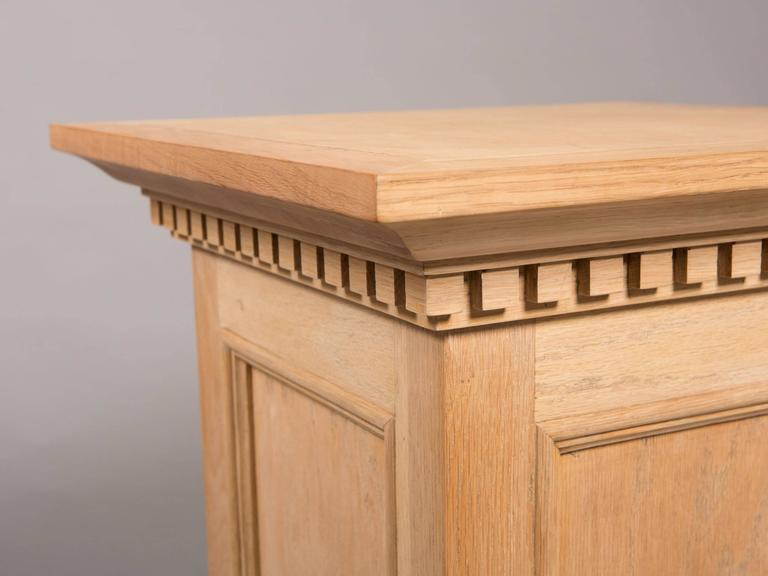 Neoclassical Style Raw Oak Pedestals 4